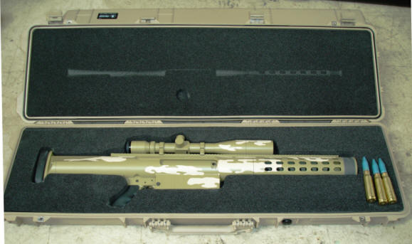 20mm Mag-fed shown in take-down configuration